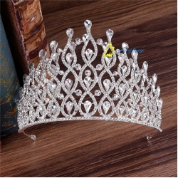 Alloy Drop Water Queen Colorful Pageant Crown