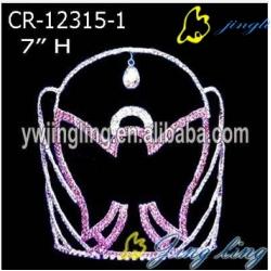 Pink Rhinestone Angel Halloween Pageant Crown