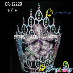 custom design large flower crown