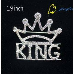 Brooch King Letter Shape
