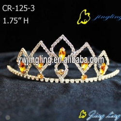 smoked topaz champagne Rhinestone Pageant Crowns