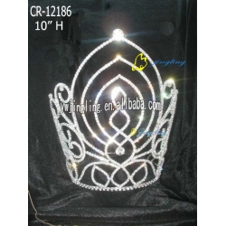 large tiara new design cheap pageant crown