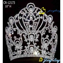 large hot sale tiara pageant crown
