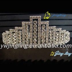 fashion gold pageant tiara