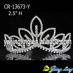 Wholesale blue rhinestone cheap wedding pageant crowns