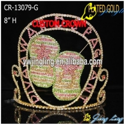 Pageant Crown Slippers Shape Gold Crown