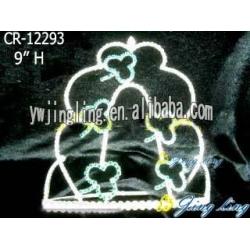 large hot sale tiara cheap pageant crown