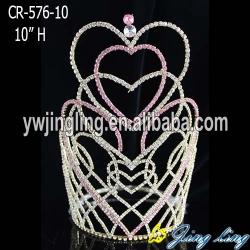 2018 Love Heart Beauty Queen Crowns Princess Wedding Accessories For Bride Tiara