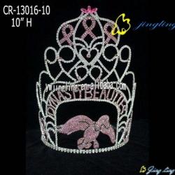 fly bird bow shape crystal custom crown
