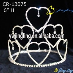 Holiday Pageant Crowns Heart Shape