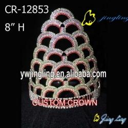 Big Customed Design Rainbow Crown