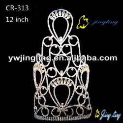 large special design rhinestone pageant crownCR-313