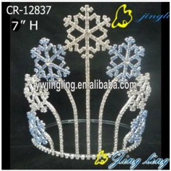 bigger blue snowflake tiara for Christmas pageant holiday crown
