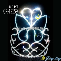 Rhinestone Butterfly Wholesale Cheap Pageant Crown