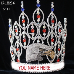 Custom Rhinestone Eagle Pageant Crown