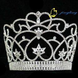 heart beauty tiara rhinestone pageant crown