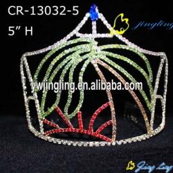 Pageant Crown Tree Sea Sun Theme