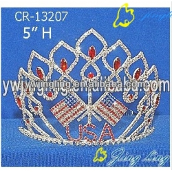 Glitz Pageant Crowns Flag Shape
