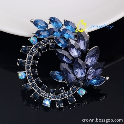 2015 brooch pins sterling vintage silver jewelry brooch ink sapphire crystal brooches summer jewelry