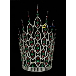 12 Inch Rhinestone Pageant Tiara Miss World Crown For Queen