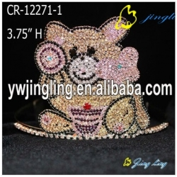 Animal  Cute candy Bear Pageant Crown For Kids