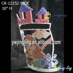 crown cute girl castle shape