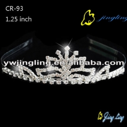 flower rhinestone cheap crown small tiaras