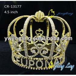 Full Round Crown Gold Pageant Man Design