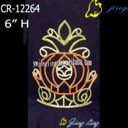 pumpkin car tiara halloween pageant crowns
