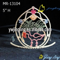 cute ostrich of crystal animal crown