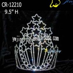 large star shape tiara pageant patriotic crown