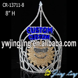 Custom cheap sunflower pageant crown for sale