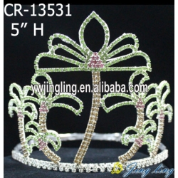 Holiday palm tree pageant crown