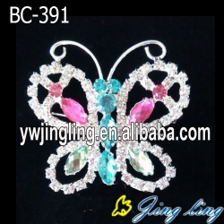 Colored Rhinestone Butterfly Pins