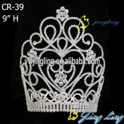 new design Large tiara rhinestone pageant crown