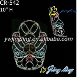 crown peace design colorful