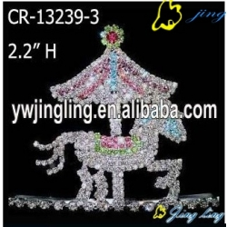 Animal Horse Shape Carousel Pageant Crown For Sale