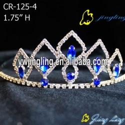 Sapphire Blue Rhinestone Pageant Crowns