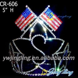 Patriotic Crown Star Flag Shape