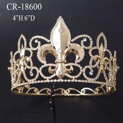 Gold Full Round Round Flower-de-luce Crown