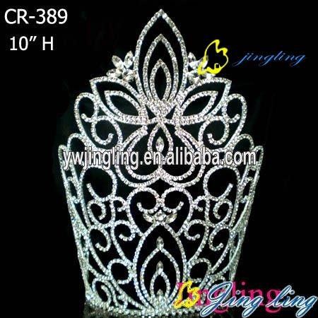 rhinestone flower pageant crowns