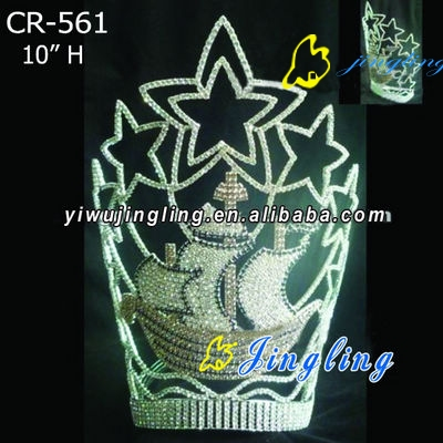 Patriotic Crown boat shape
