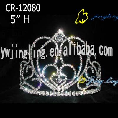 sweet heart stone tiara crowns