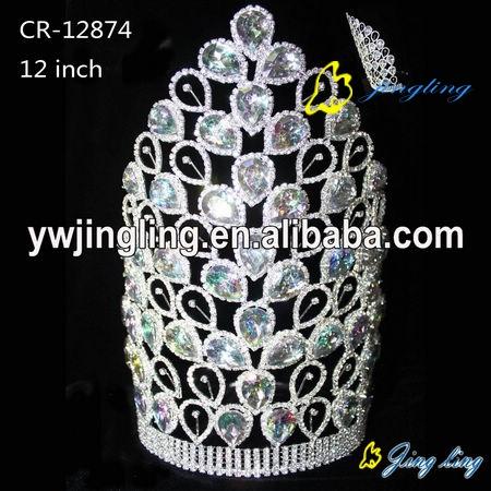 large rhiestone big size wholesale crowns