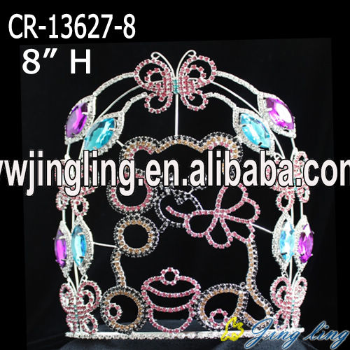 Color rhnestone pageant candy bear animal crown