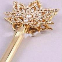 gold rhinestone star pageant crown scepter