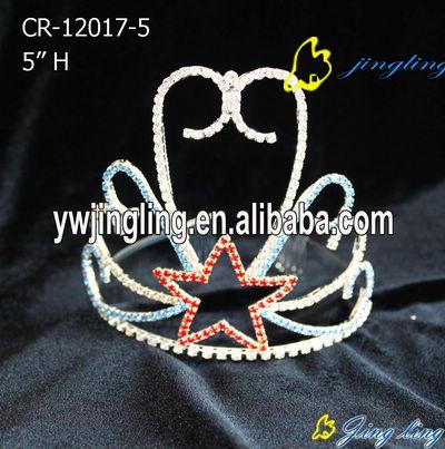 one star charm patriotic crown