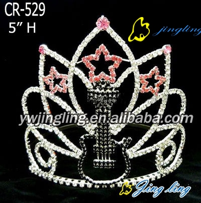Pageant Crown guitar star shape