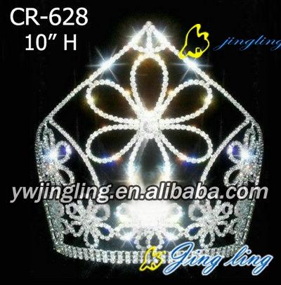 big flower elegant Beauty Pageant Crown
