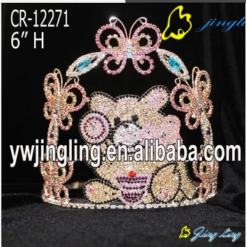 Lovey Cute Candy Butterfly Rhinestone Pageant Crown For Sale